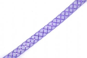 Purple oloured with purple foil mesh tubing - 8mm - 016